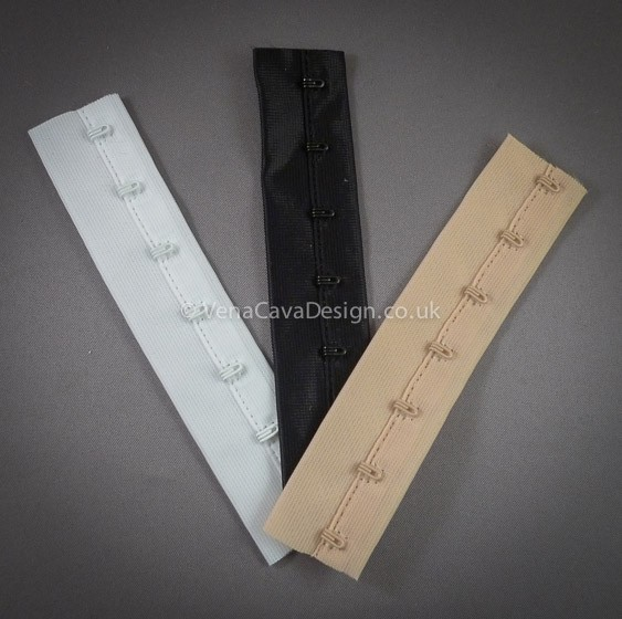 """1m OF BLACK HOOKS AND EYES ON TAPE CORSET SUPPLIES 1/"""" SPACING ON 1/"""" WIDE TAPE"""
