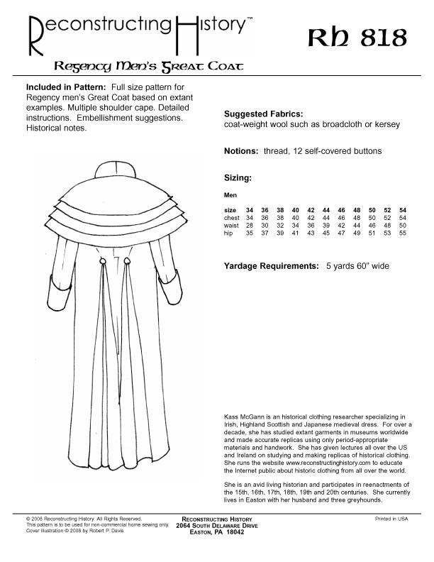 Regency Mens Great Coat > Vena Cava Design