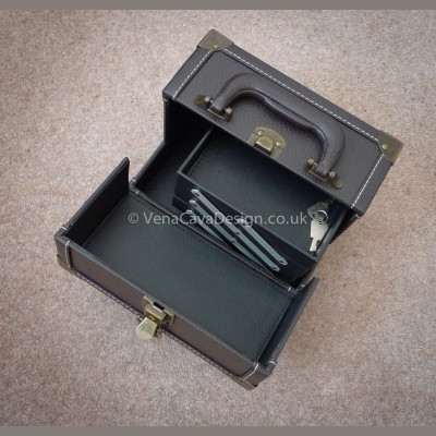Leather Look Portable Sewing Case - Medium