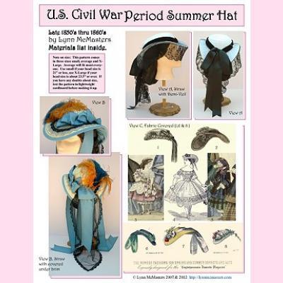 US Civil War Period Summer Hat Pattern