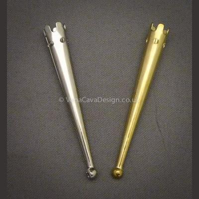 Long engraved metal Aglets