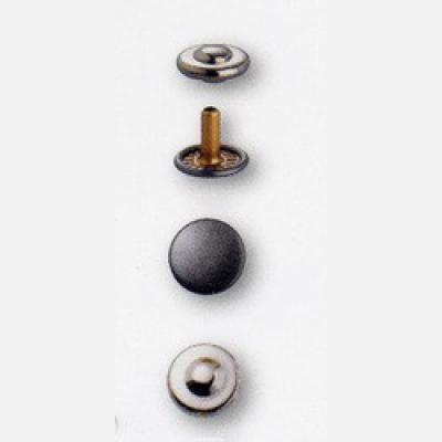 Jeans Rivets brass silver/antique steel 9 mm