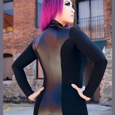 Yaya Han Zippered Bodysuit