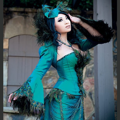 Yaya Han Peacock Jacket, Corset and Skirt