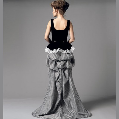 Corset and Skirt with Bustle