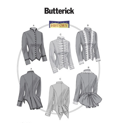 Butterick Misses' Boned, Back-Pleat Jackets