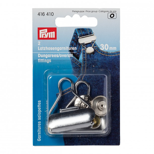 Dungarees/overall fittings, 40mm, - Prym