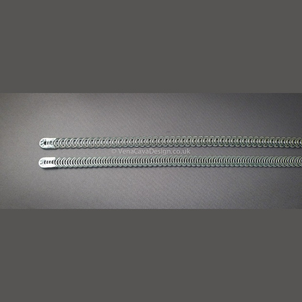 7mm x. 0.9mm Spiral Wires for Corsetry (large gauge)  with end caps