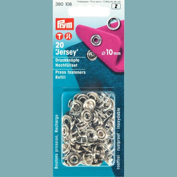 Jersey Fasteners 10mm - Prym branded