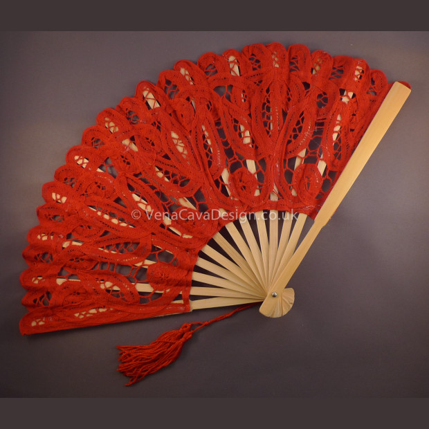 Battenberg Lace Fans (Small)