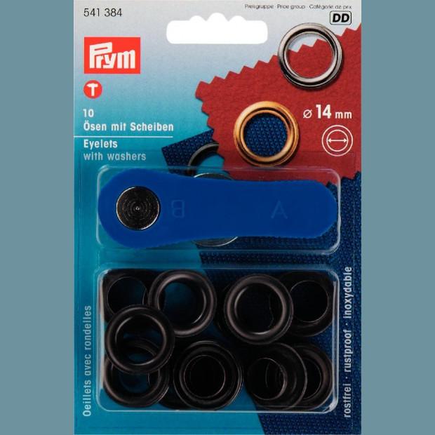 Eyelets and Washers 14mm - Prym