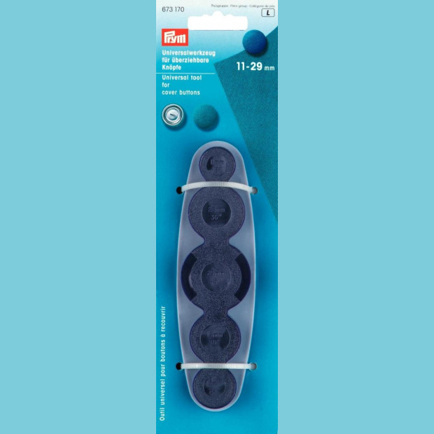Cover Buttons -Prym brand, 3 sizes