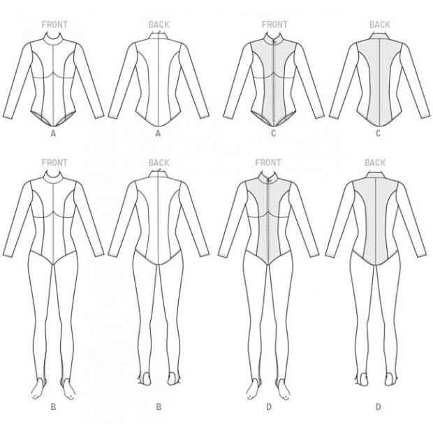 Yaya Han Zippered Bodysuit