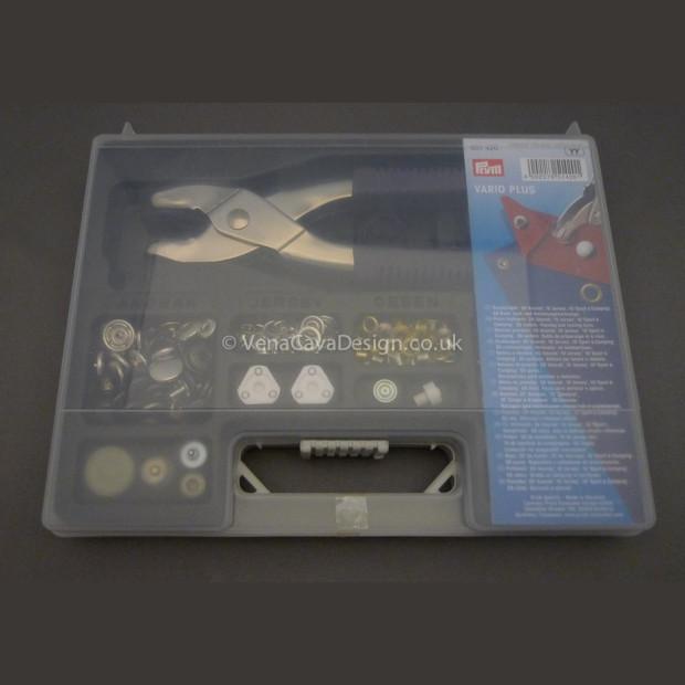 Prym Vario Pliers Starter Kit, Eyelets, Press Fasteners, Jersey Fasteners...
