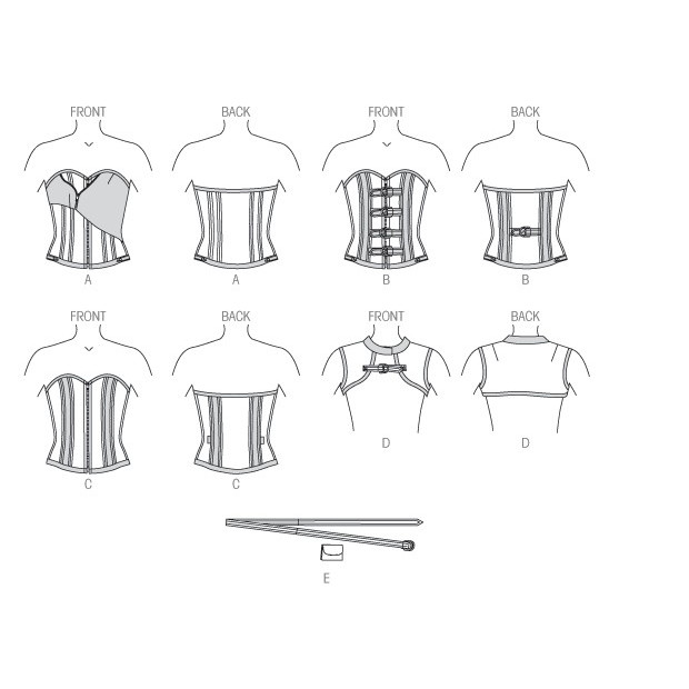 Boned Corsets, Vest and Belt