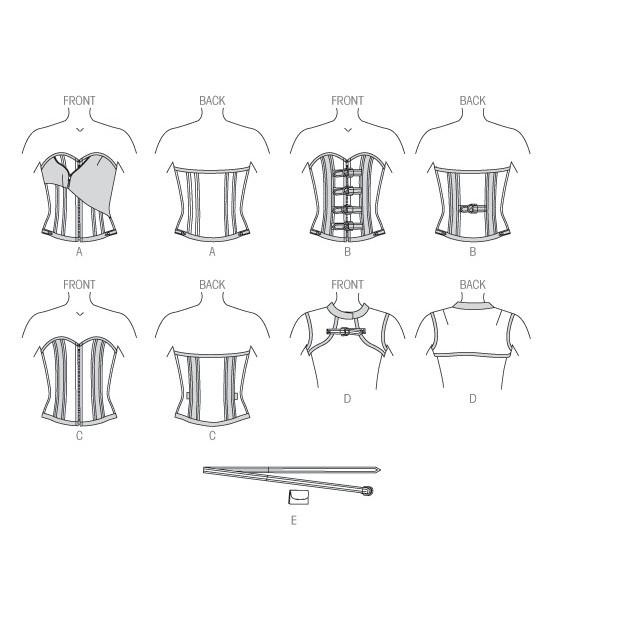 Boned Corsets, Vest and Belt