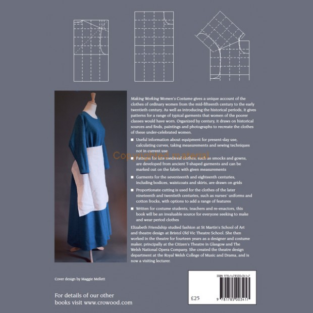 Making Working Women's Costume - Patterns for Clothes from mid-15th to mid 20th centuries.
