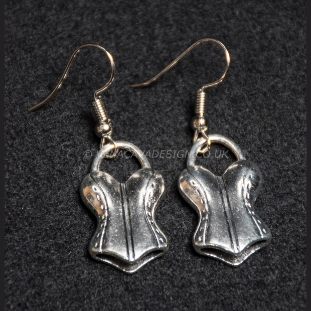 Silver Corset Earrings
