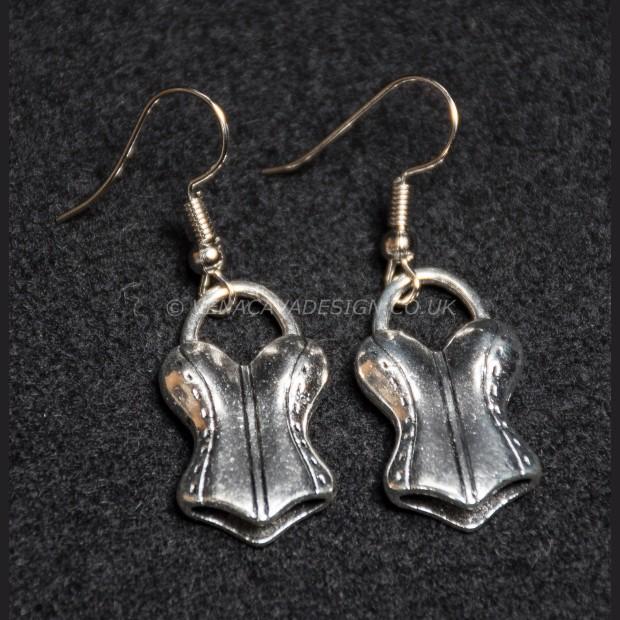 Silver Corset Earrings