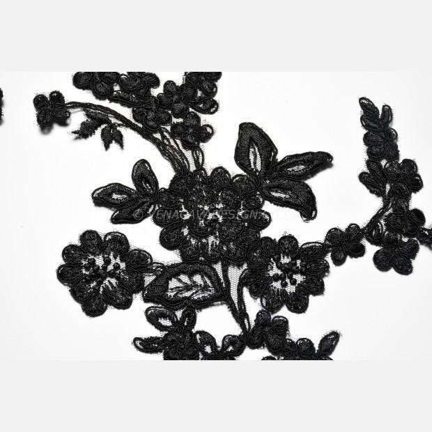 Black Lace Appliques