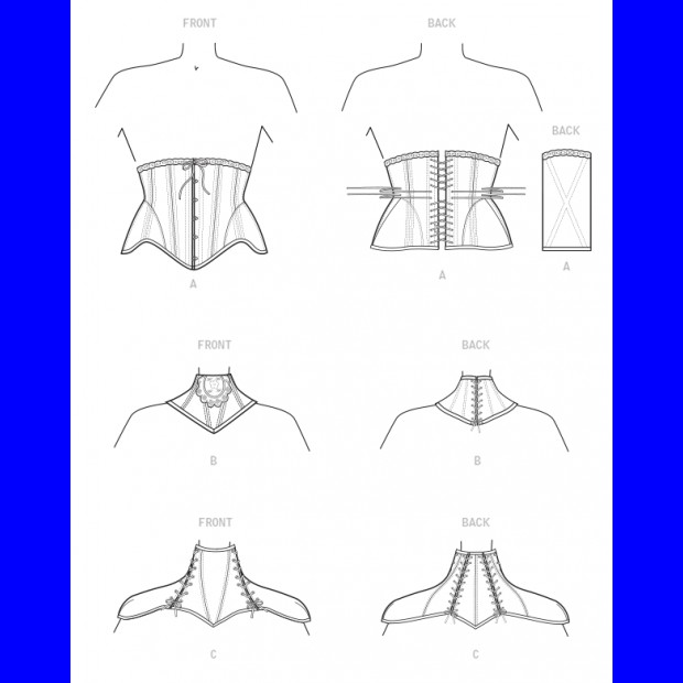 Waist Cincher and-Neck Corsets Carpathia- Cosplay from McCalls