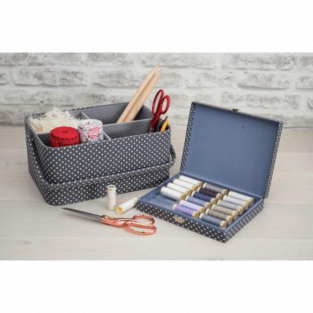 Thread Spool Storage Box with 12 x 150m Guterman Sew All Thread