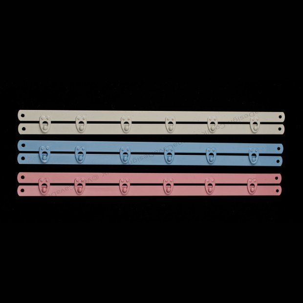 Coloured Busks -Narrow Stainless Steel Busks for Corsetry in a variety of glorious colours.