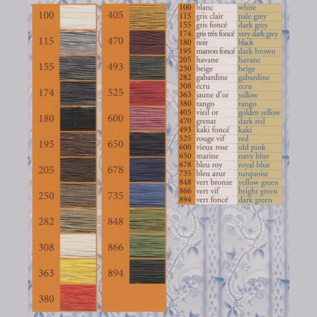 Fil Au Chinois Linen thread  (Waxed Lin Retors Extra)