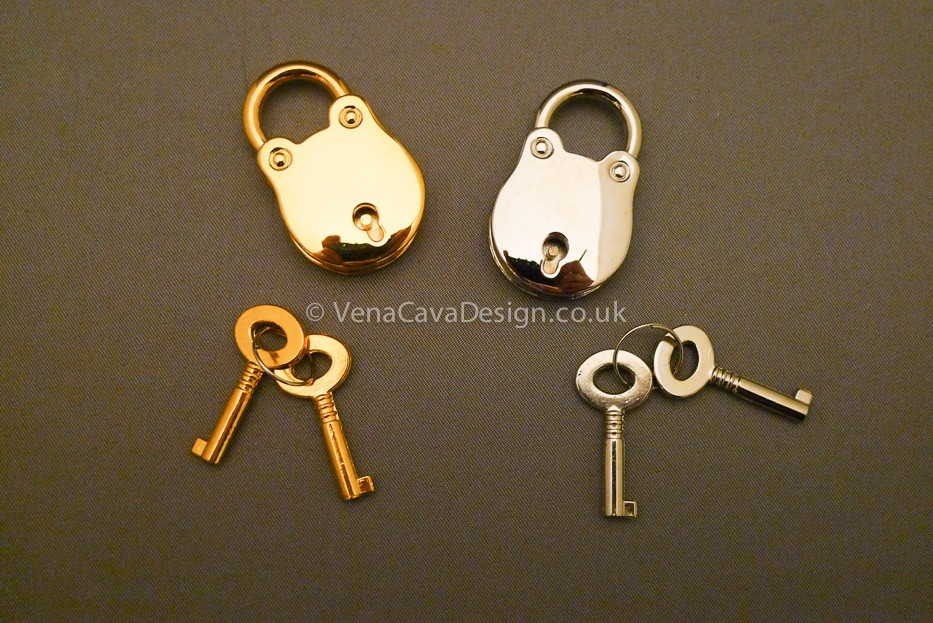 Retro Padlocks in Silver and Gold