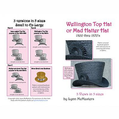 Wellington, Mad Hatter, Muller Cut Down Style Top Hat