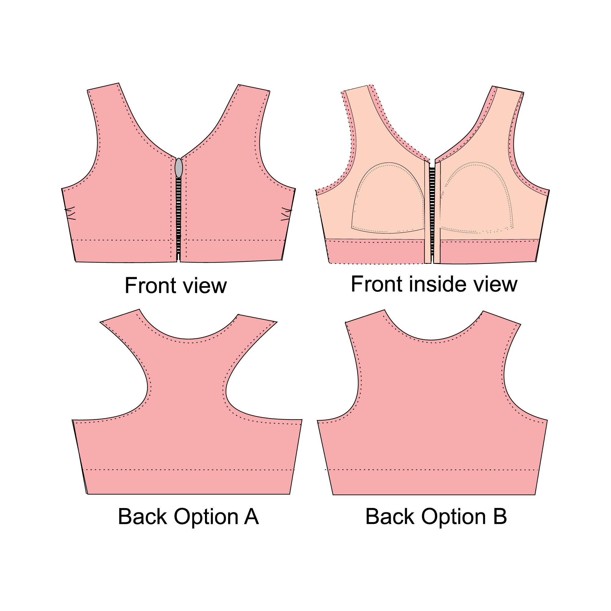 Alison Sports Bra Pattern Gt Patterns Gt Bra Making Supplies
