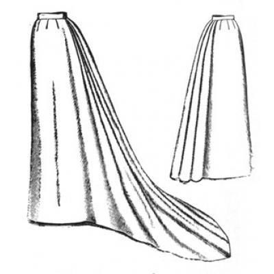 1892 Umbrella Skirt with Train