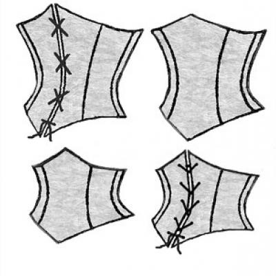 1890s Victorian Corselets