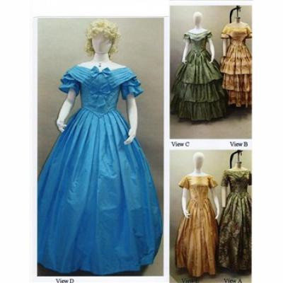 Ladies 1840-1863 Ball Gown