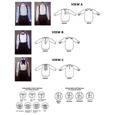 Mens Victorian and Edwardian Shirts