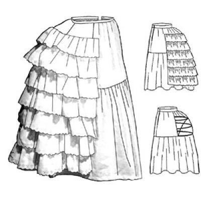 Petticoat with Wire Bustle - Revised