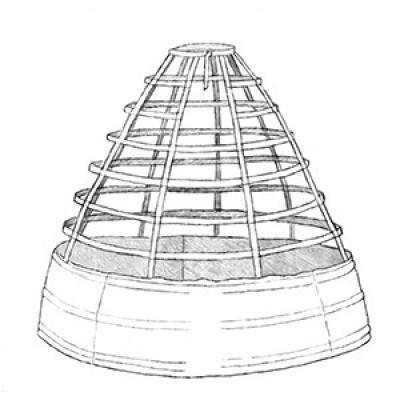 1860 Round Cage Crinoline KIT
