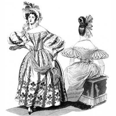 1830s Romantic Era Dress