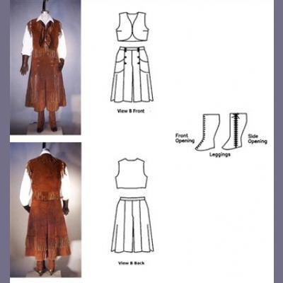 Misses Split Skirt, Vest, Jacket and Leggings