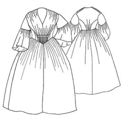 1856 Gathered Dress