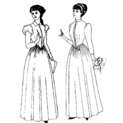 Late 1880-1892 Day Dress.