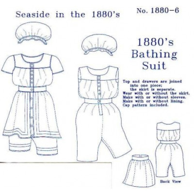 1880s Ladies Bathing Suit Pattern