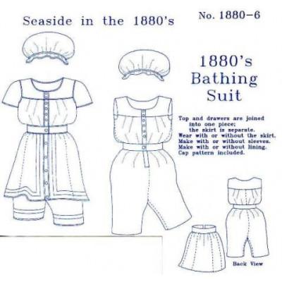 1880s Ladies Bathing Suit Pattern
