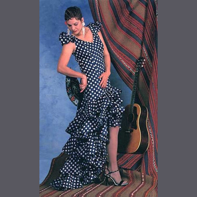 Flamenco Dress and Practice Skirt Misses Extra Small to Extra Large