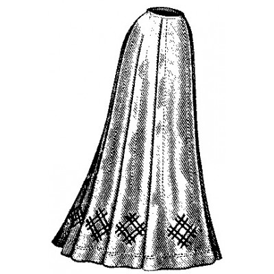 Ladies Nine-Gored Skirt: Circa 1900