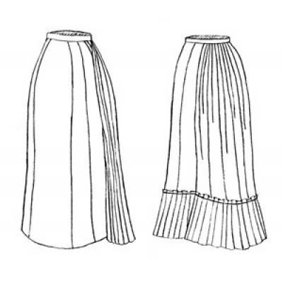 1878 Tie-Back Underskirt