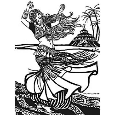 American Tribal Style Belly Dancer Choli