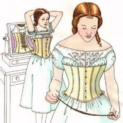 1863 Daytons Skirt Supporting Corset