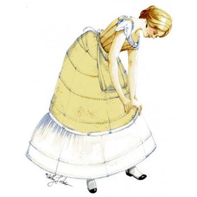 Hoop Skirt with Hoop Flounce Circa 1864