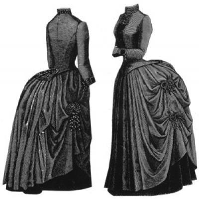 1888 Purple Cloth and Velvet Costume